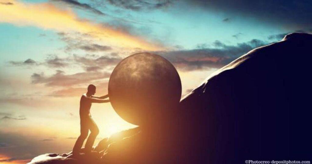 Das Gegenteil von kraftspenenden inneren Bildern: Sisyphus.